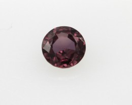 0.34cts Natural Songea Purple Sapphire Round Cut