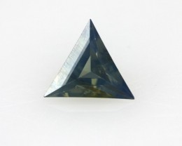 0.44cts Natural Australian Blue Parti Sapphire Triangle Cut
