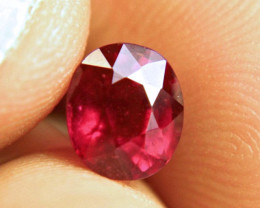 2.67 Carat Fiery Purplish Red Ruby