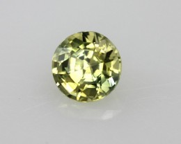 0.46cts Natural Australian Yellow Parti Sapphire Round Cut
