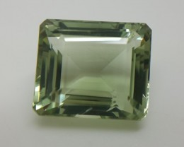 22.50Crt Natural green amethyst faceted gemstone beautiful cutting