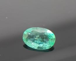 0.50 CRT Natural Zambian Emerald faceted Gemstone