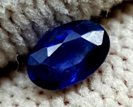BLUE SAPPHIRE 0.35 CARAT OVAL FACETED TOP QUALITY GEMS
