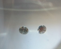 NATURAL BLACK-DIAMOND,0.30CARAT-2PCS WITH FIRE AND LUSTURE