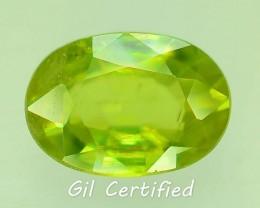 GiL Certified 1.39 ct Tanzanian Sphene S.2