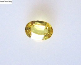 0.48cts Natural Australian Yellow Sapphire Oval Cut