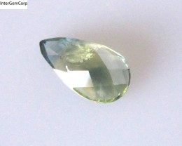 0.92cts Natural Australian Yellow Part Sapphire Pear Checker Board Cut