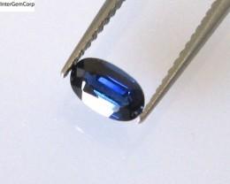 0.36cts Natural Australian Blue Sapphire Oval Cut