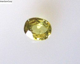 0.30cts Natural Australian Yellow Parti Sapphire Oval Cut