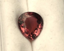 2.64 Carat Pear Cut Nice Red Tourmaline
