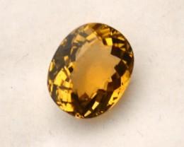 3.45 Carat Oval Cut Certified Fine Yellow Tourmaline