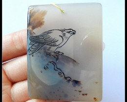 Agate Carving Eagle Pendant Bead(D0049)