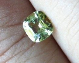 0.79cts Natural Australian Yellow Parti Sapphire Cushion Cut