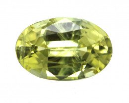 0.54cts Natural Australian Yellow Sapphire Oval Cut