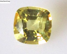 0.97cts Natural Australian Yellow Sapphire Cushion Cut
