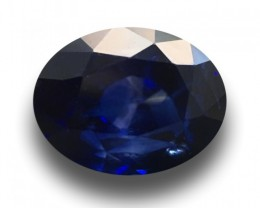 3.42 CTS Natural Royal Blue sapphire |Loose Gemstone|New Certified| Sri Lan