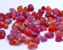 83.10CT natural pink color malaya garnet rough