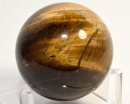 """2"""" Golden Yellow Tiger Eye Crystal Sphere Ball - Africa (STYTB-NA112)"""