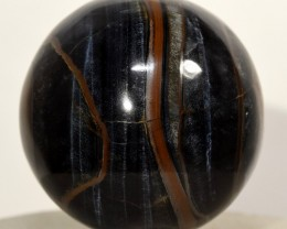 45mm Natural Blue Tiger's Eye Crystal Mineral Sphere Africa BTEBNA109