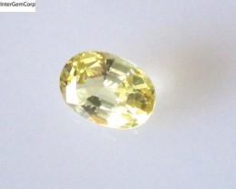 0.56cts Natural Australian Yellow Sapphire Oval Cut