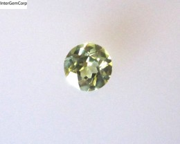 0.28cts Natural Australian Yellow Parti Sapphire Round Cut