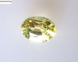 0.71cts Natural Australian Yellow Sapphire Oval Cut