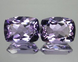 19.48 Cts Natural Bolivian Purple Amethyst Cushion Cut 2 Pcs
