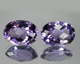 15.49 Cts Natural Bolivian Purple Amethyst Oval CUt 2 Pcs