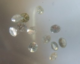 NATURAL WHITE DIAMOND-12PCS-1CTWLOT,2.8MMSIZES
