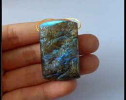 Natural Stone Flashy Nugget Labradorite Pendant Bead(s005)