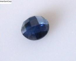 0.80cts Natural Australian Blue Sapphire Round Checker Board Cut