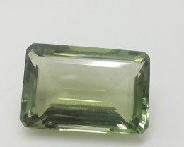 19.65 Crt Natural green amethyst faceted gemstone beautiful cutting