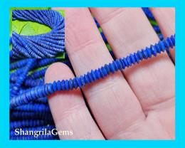 3.5 to 4mm 17inch Lapis Lazuli Saucer shape German cut beads unpolished 4 b