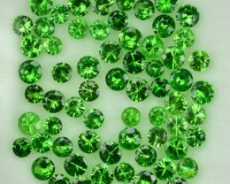 1.61 Cts Natural Green Tsavorite Garnet 2 mm Round 64 Pcs Parcel