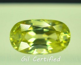 GiL Certified 1.88 ct Natural  Zircon Untreated Combodia PR.1