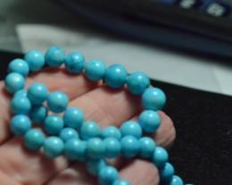 "RESERVED SALE 16"" 6-8mm Round ARIZONA ORGANIC TURQUOISE TUR004 beads"