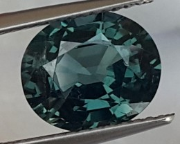 3.37cts, Titanium Spinel,  Certified,  100% Untreated,  VVS1 Eye Clean,