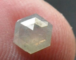 RESERVED FOR CUSTOMER 0.52ct 5.85mm Hexagon Rose Cut diamond silver grey wh