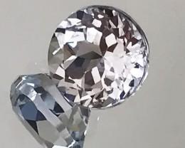 Jewellery Grade 7mm Silver White Topaz VVS gem