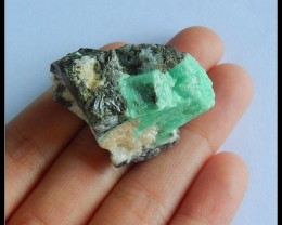 Natural Nugget Emerald Green Heated Treatment Cabochon(s001)