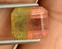 3.4 CTS WATERMELON TOURMALINE FACETED STONE natural SG-2408