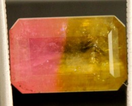 8.8 CTS  WATERMELON TOURMALINE FACETED STONE natural SG-2413