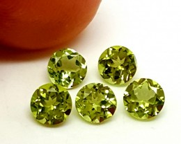 1.40 Cts AMAZING GREEN PERIDOT 5 PIECES LOT