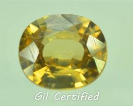 GiL Certified 2.78 ct Natural Yellow Zircon Untreated Combodia PR.1