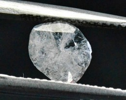 0.36ct 7.4mm white diamond slice 7.4 by 6.8 by 0.7mm