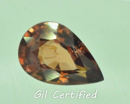 GiL Certified 1.57 ct Imperial Zircon Untreated Combodia PR.1