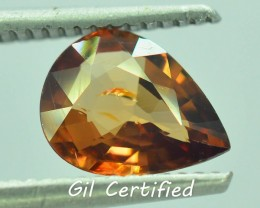GiL Certified 1.96 ct Imperial Zircon Untreated Cambodia PR.1