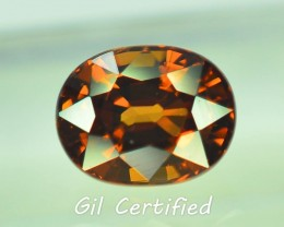 GiL Certified 1.88 ct Imperial Zircon Untreated Cambodia PR.1