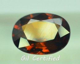 GiL Certified 2.83 ct Imperial Zircon Untreated Cambodia PR.1