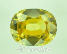 GiL Certified 1.92 ct Yellow Zircon Untreated Combodia PR.1
